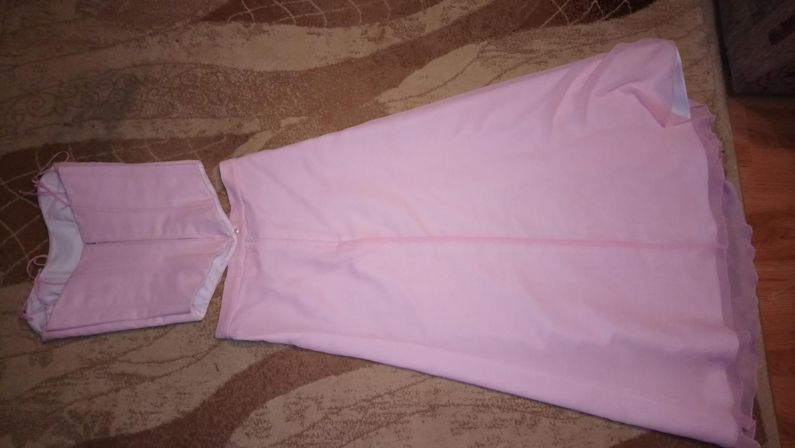 Ružové šifónové šaty - Obrázok č. 2