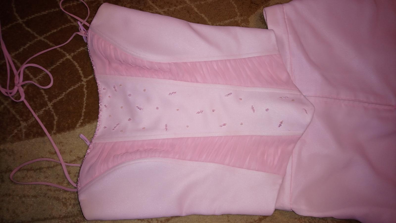 Ružové šifónové šaty - Obrázok č. 3