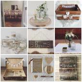 Set dekorací na svatbu ve stylu rustic,