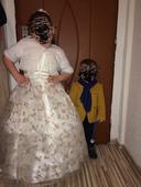 Dětské šaty vel.128/134 s kruhem, 134
