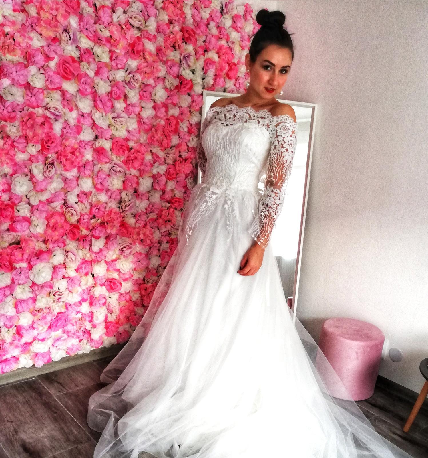 NOVÉ svatební šaty Elody, vel. 40-42 - Obrázek č. 1