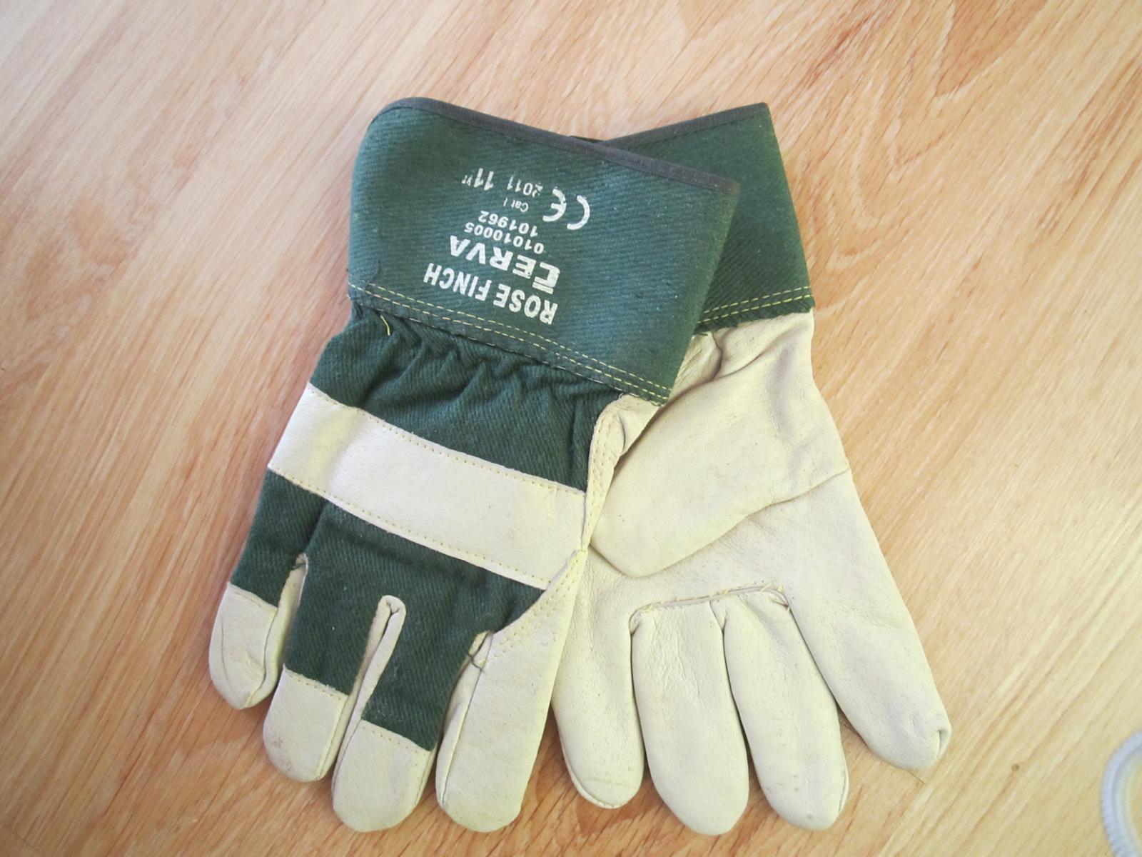Kombinované pracovné rukavice--XL - Obrázok č. 1