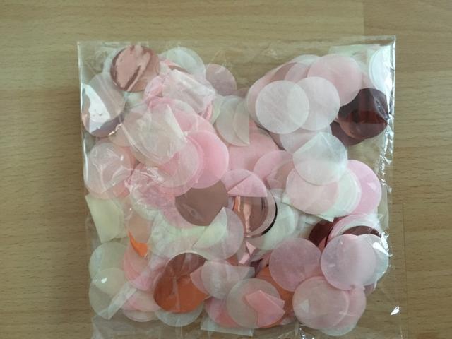 okvětní plátky, konfety rose gold 30g - Obrázek č. 1