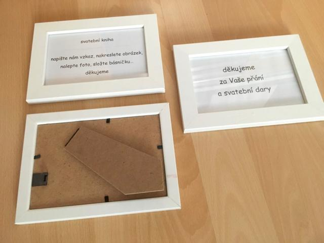 3 ks rámeček bílý 10 x 15 cm - Obrázek č. 2