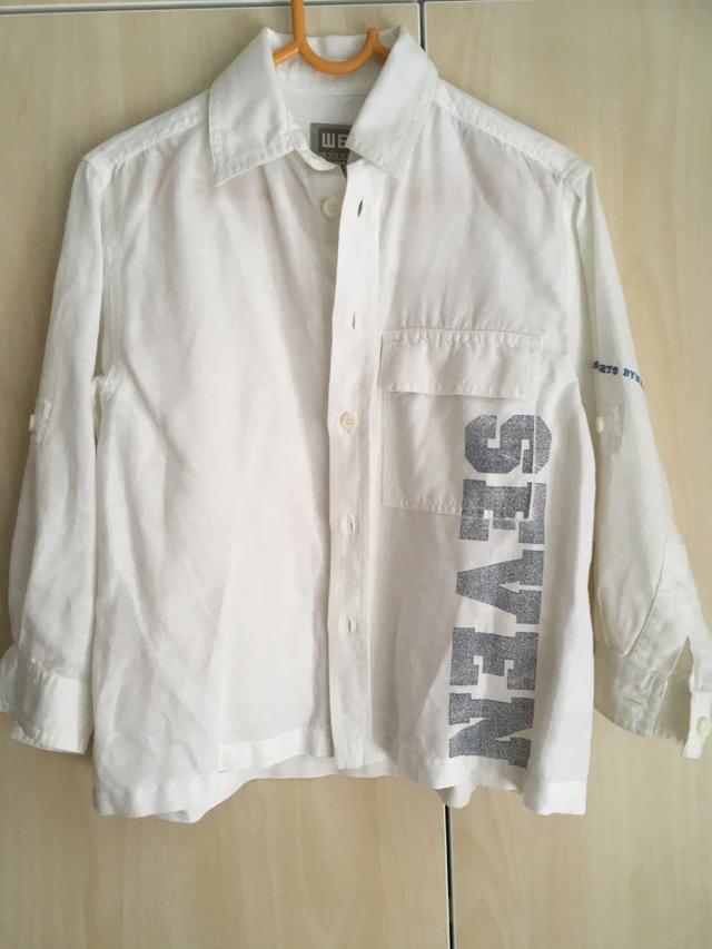 bílá košile s dlouhým rukávem vel. 110/116 - Obrázek č. 1