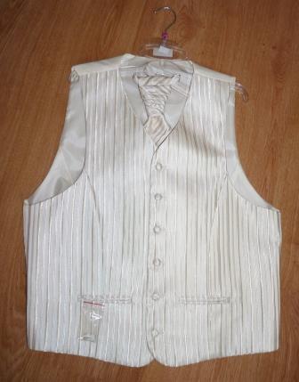 vesta + kravata + vreckovka - Obrázok č. 1