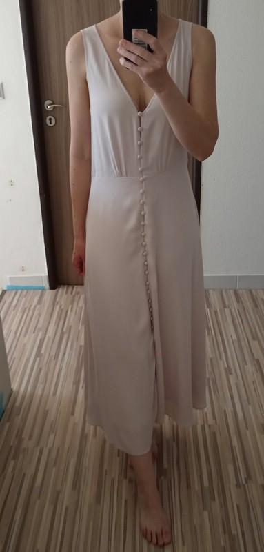 Dlouhé šaty s knoflíčky H&M vel. 38 - Obrázek č. 2