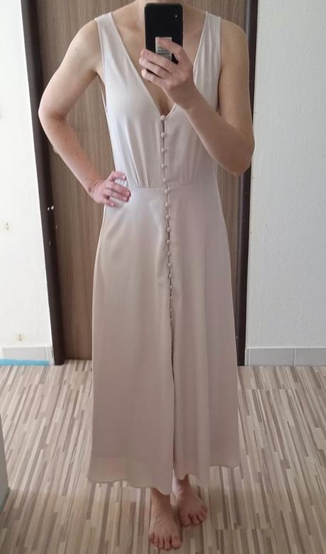 Dlouhé šaty s knoflíčky H&M vel. 38 - Obrázek č. 3