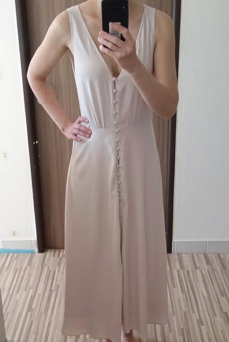 Dlouhé šaty s knoflíčky H&M vel. 38 - Obrázek č. 1