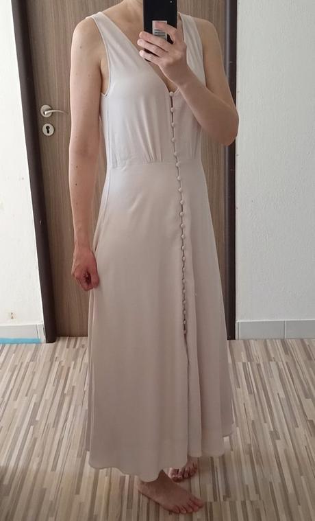 Dlouhé šaty s knoflíčky H&M vel. 38 - Obrázek č. 4