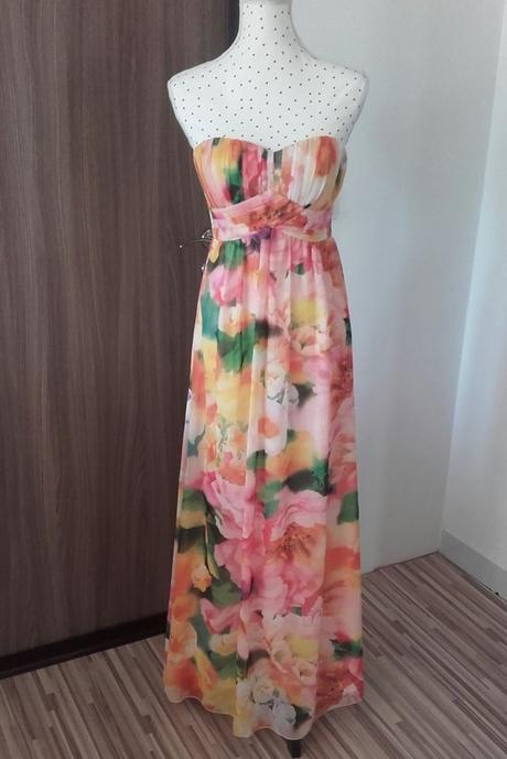 Dlouhé květované šaty Quiz S-M - Obrázek č. 1