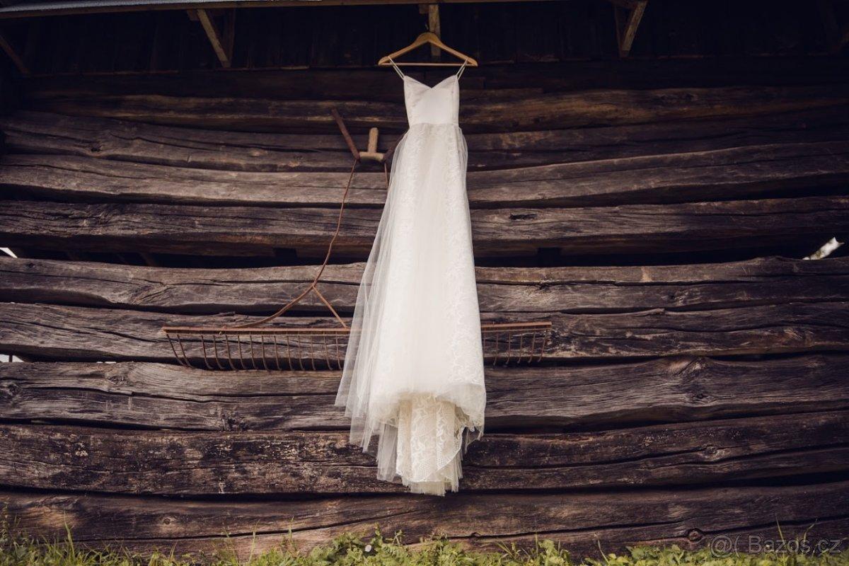 Svadobné šaty na mieru (S/36 - 175cm) - Obrázek č. 1