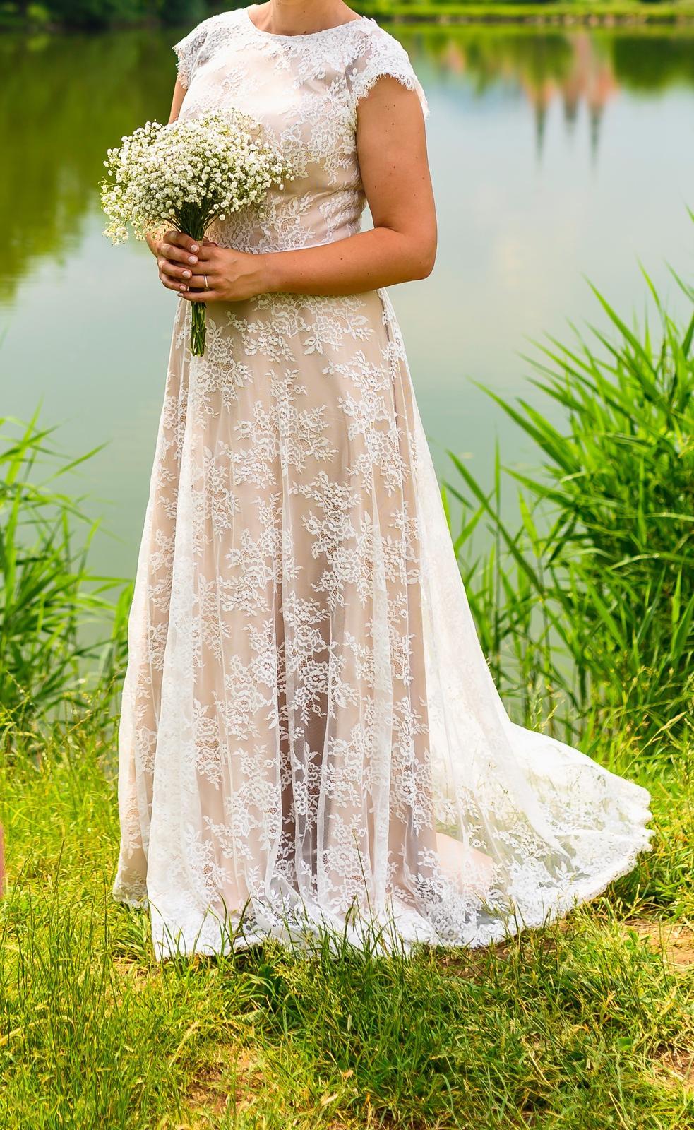 Svatební šaty na vyšší nevěstu - Obrázek č. 1