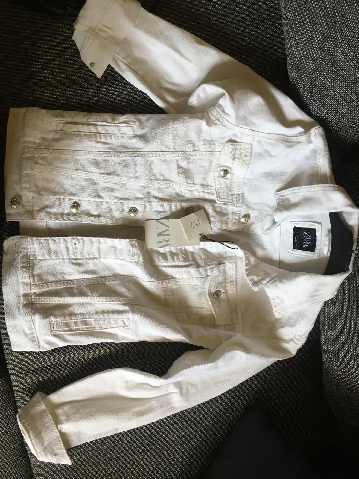 NOVÁ bílá džínsová bunda ZARA - Obrázek č. 2