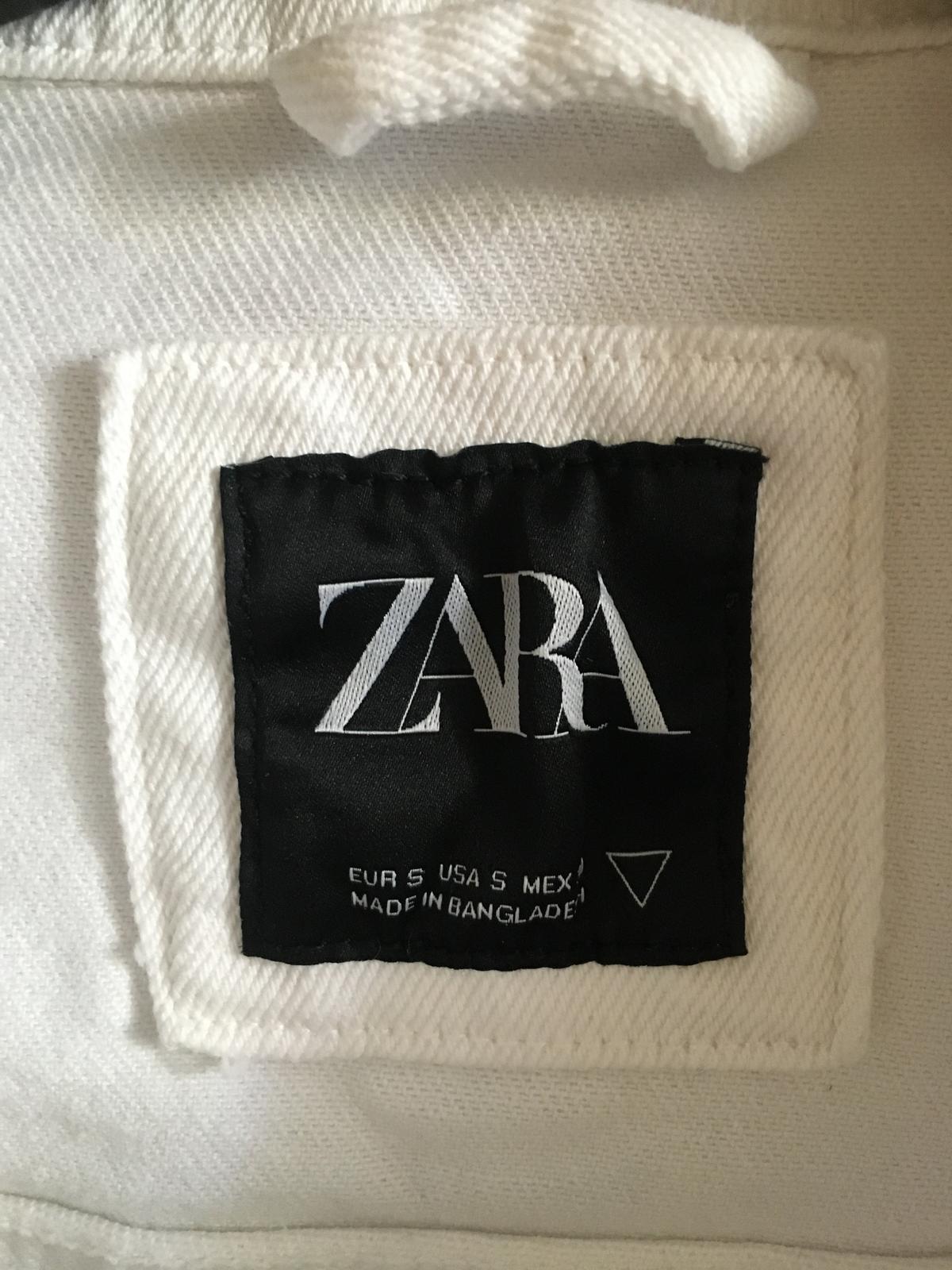 NOVÁ bílá džínsová bunda ZARA - Obrázek č. 4