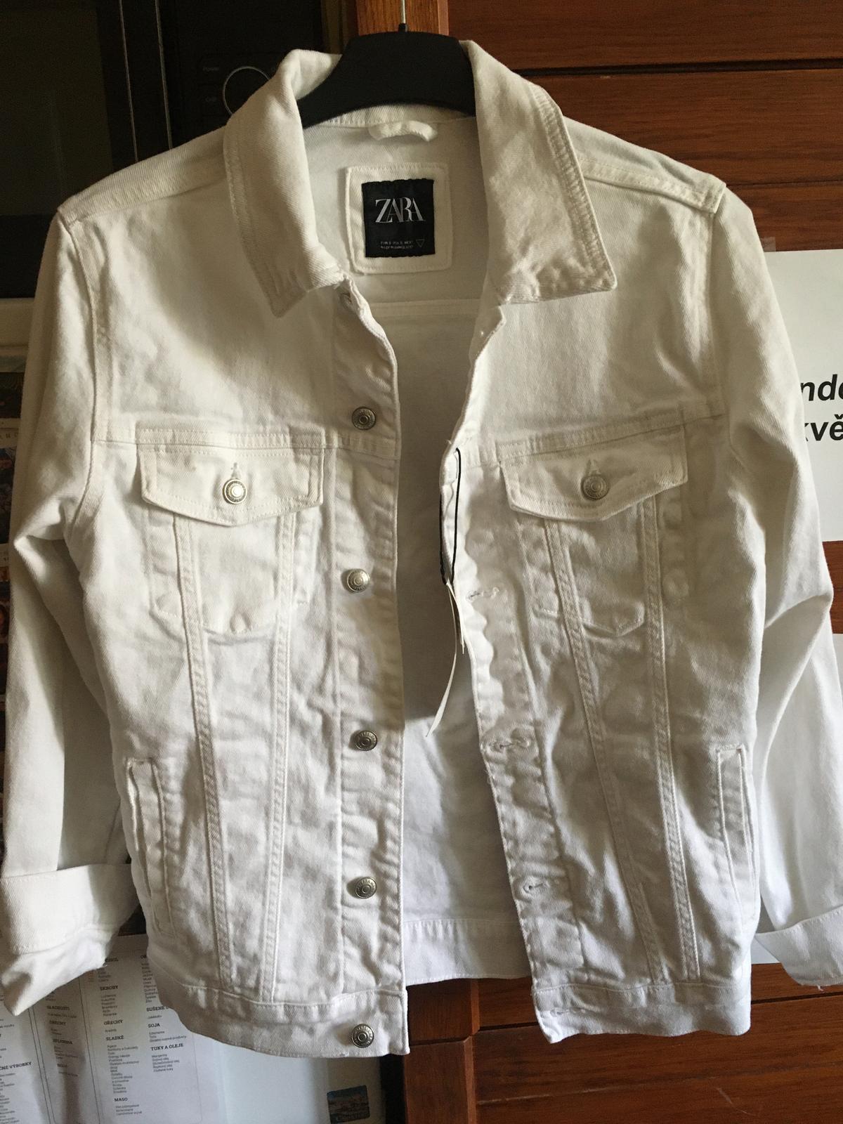 NOVÁ bílá džínsová bunda ZARA - Obrázek č. 1
