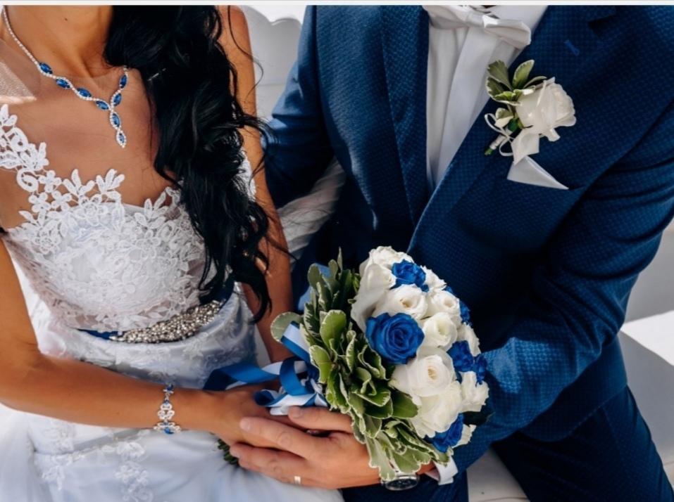 Pansky modry oblek - Obrázek č. 1