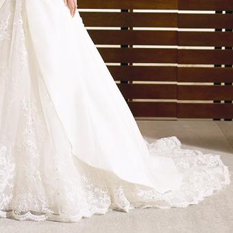 Naša vysnívaná svadba - Dvojitá látka, čipkovaná