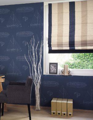 Spálňa- nápady - K tapetám Casadeco Fregata je možné dokúpiť aj textílie :-)