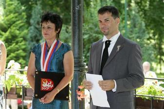 Dva projevy - jeden český, druhý italský. Oba nádherné...
