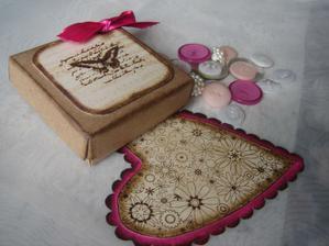 Krabicka na darek pro hosty (vlastni vyroba)