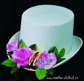 Fialové růže + prstýnky na cylindru (č.03),
