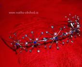 Čelenka štrasová - modrá (č. c53),