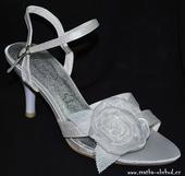 Svatební - saténové sandálky (č.01), 36