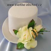 Šampáň růže + prstýnky na cylindru (č.04),
