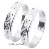 Snubní prsten U4R1 - stříbro,