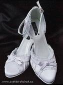 Zářivě bílé saténové botičky (č.13), 41