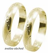 Snubní prsten A24 - zlato žluté,