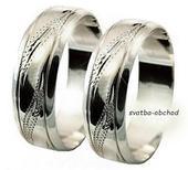 Snubní prsten A22 - zlato bílé,