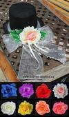 Šampáň růže + stuha na filcovém cylindru (č.06),