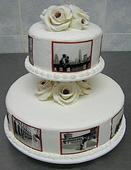 Podnos - stojan na dort - dvě patra,
