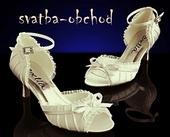 Svatební botičky saténové - šampáň (č.12), 41