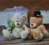 Medvědi - bílá + hnědý (č.18),