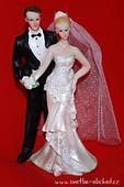 Elegantní figurka na svatební dort,