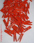 Kolíček oranžový - mini (č.11),