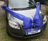 Mašle na auto - královsky modrá,