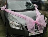 Mašle na auto - růžová,