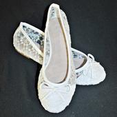 Balerínky svatební 30 bílé, 41