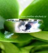 Snubní prsten K15 - bílé zlato + 1x zirkon,