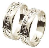Snubní prsten A8 - bílé zlato ,