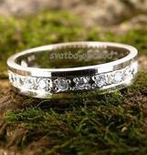 Snubní prsten K56 - stříbro + 13x zirkon ,