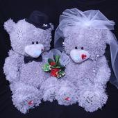 Medvídci svatební 34 srdíčka,