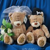 Hnědí svatební medvídci 05,
