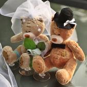 Hnědí svatební medvídci 06,