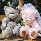 Medvědi 22 růžovo šedý pár,