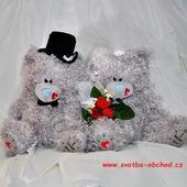 Medvídci svatební 23 srdíčka,